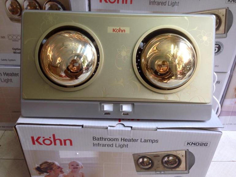 Đèn sưởi nhà tắm Braun 2 bóng thiết kế khá đẹp