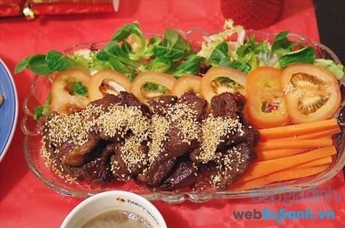 Bò nướng kiểu Nhật có vị ngon lạ