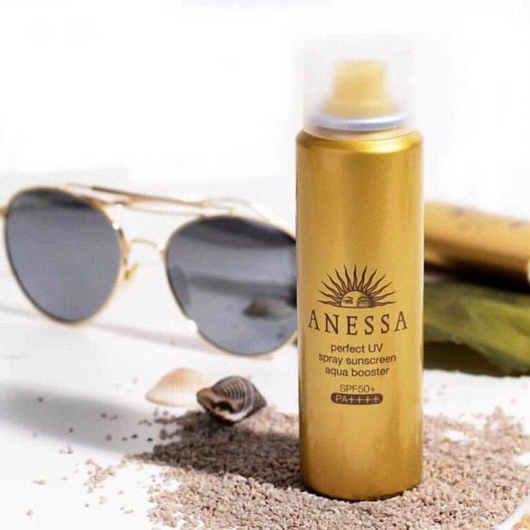 Xịt chống nắng Anessa Perfect UV Spray Sunscreen Aqua Booster