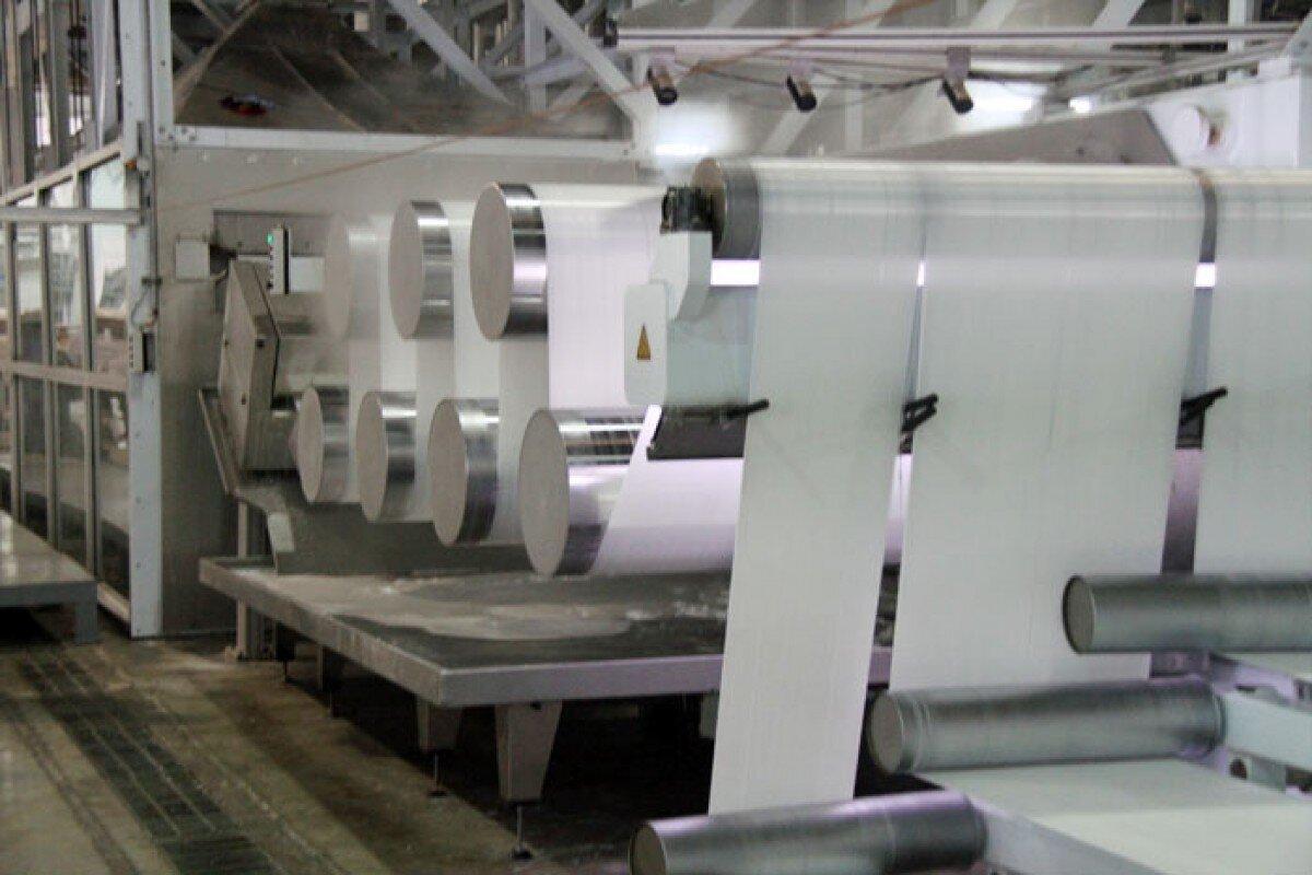 Hình ảnh các sợi Polyester tại nhà máy