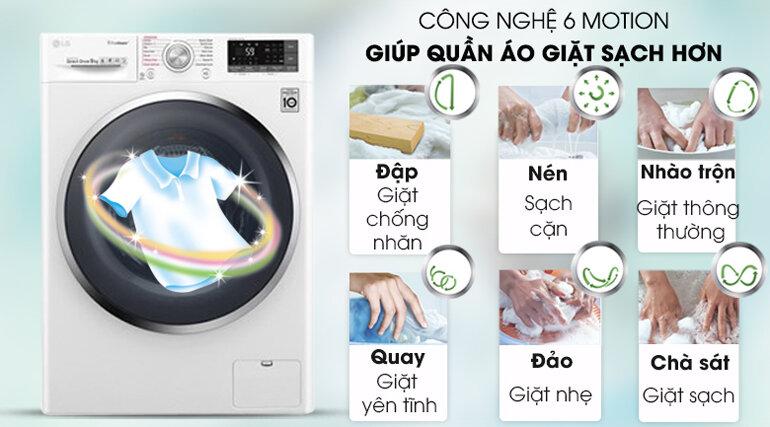 Máy giặt LG công nghệ 6 Motion