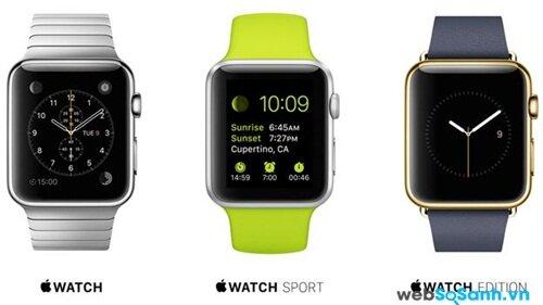 3 phiên bản đồng hồ thông minh của Apple. Nguồn Internet