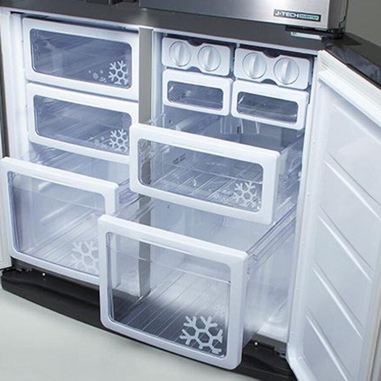 Tủ lạnh SBS Sharp SJ-FX631V/SL - 626 lít