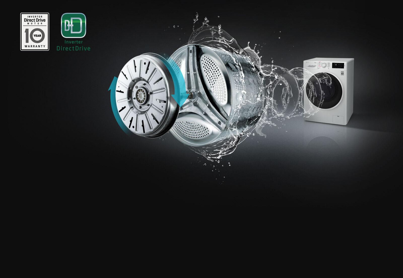 Máy giặt công nghệ truyền động trực tiếp có thể định vị được số lượng quần áo
