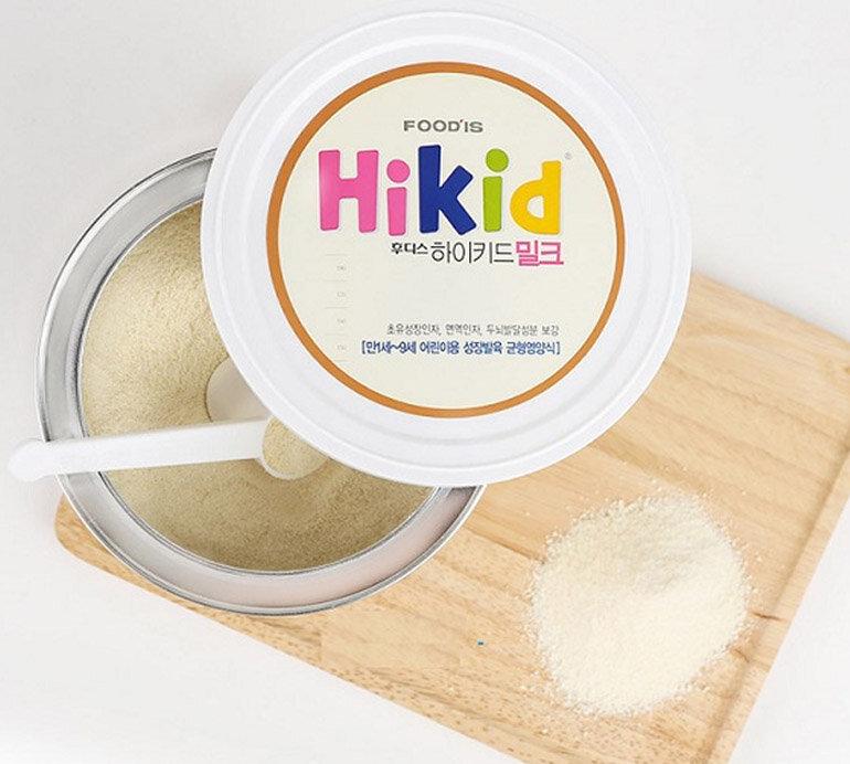 Sữa Hikid có hạt màu xanh là hạt gì?