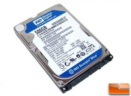 Western Digital, 500GB, 7200rpm dành cho laptop
