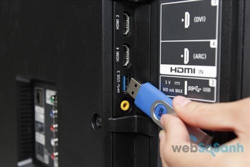 Kết nối USB trên tivi Toshiba