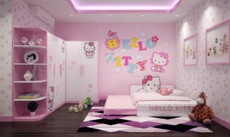 Tham khảo một số chủ đề thiết kế nội thất phòng ngủ bé gái