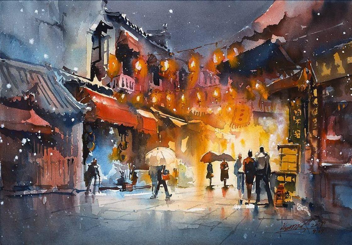Một khu chợ đêm tại Trung Quốc