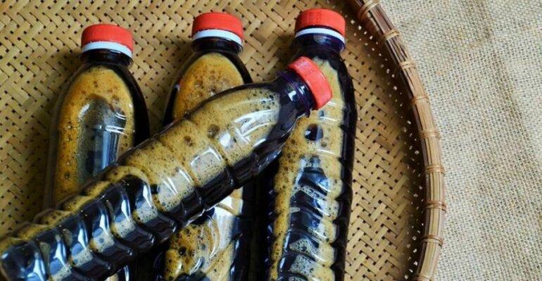 Sản phẩm dầu gội thảo dược sau nấu được đóng chai