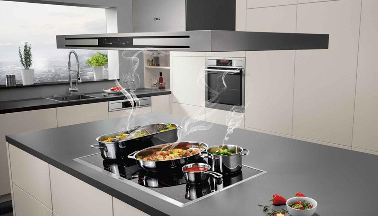 Máy hút mùi giúp lọc sạch không khí trong gian bếp nhà bạn