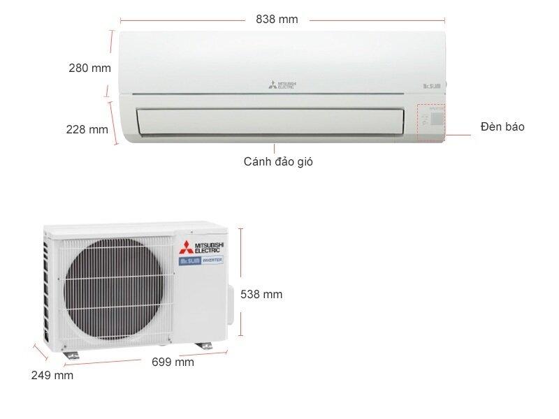Máy lạnh Mitsubishi Electric 12000BTU MSY-JP35VF