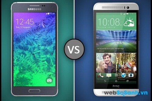 Galaxy Alpha và HTC One E8 đều chạy hệ điều hành Android 4.4 KitKat