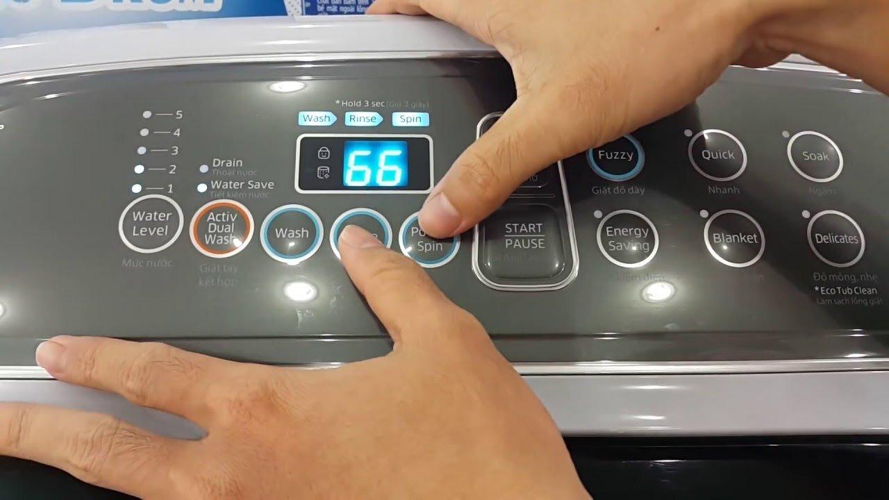 Cách sử dụng máy giặt Samsung Dualwash rất đơn giản