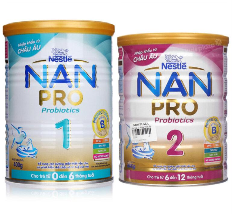 Sữa Nan pro số 1 và số 2