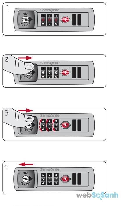 khóa số STA vali kéo