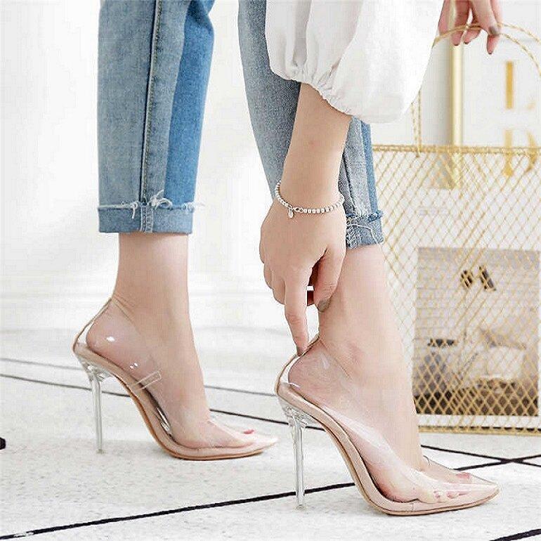 giày cao gót nữ trong suốt