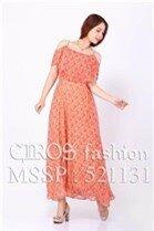 Đầm maxi (có 3 màu) đi biển hai dây trễ vai quyến rũ - Shop bán sỉ quần áo thời trang CIROS Color Đỏ