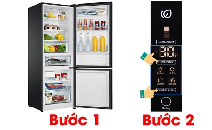 Cách reset tủ lạnh Aqua ngăn đá dưới