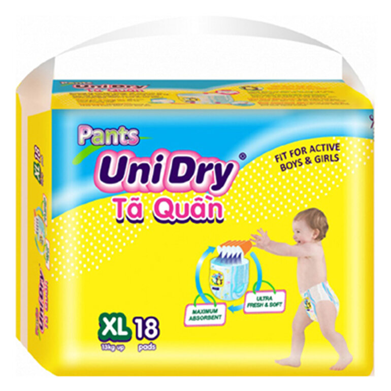 Bỉm quần Unidry size XL cho bé