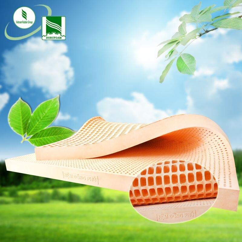 Nệm cao su Đồng Phú sử dụng chất liệu cao su 100% không pha tạp chất