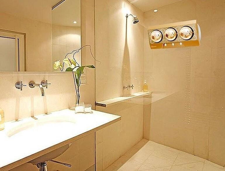 Đèn sưởi trong nhà tắm không đốt cháy oxy