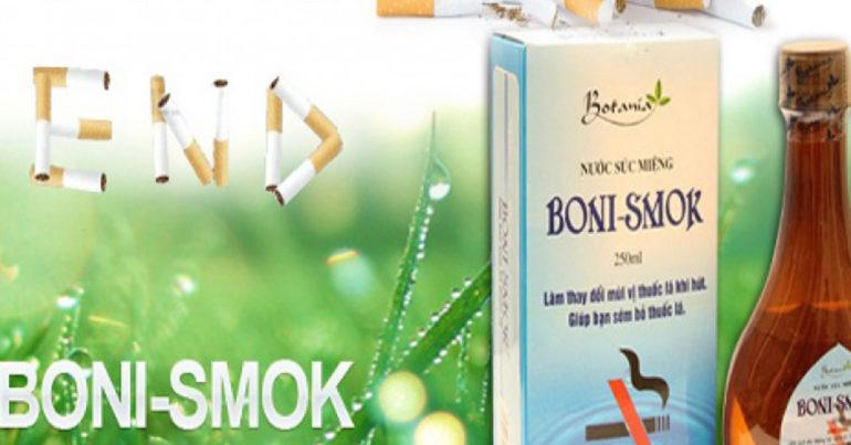 Nước súc miệng Boni Smok giá bao nhiêu ? Dùng có hiệu quả không ?
