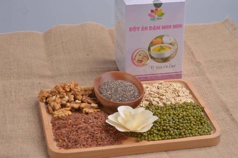 Bột ăn dặm Minmin là sản phẩm của Việt Nam
