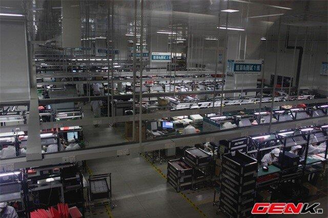 Dây chuyền lắp ráp và thử nghiệm sản phẩm với năng suất 40 triệu đơn vị/năm.