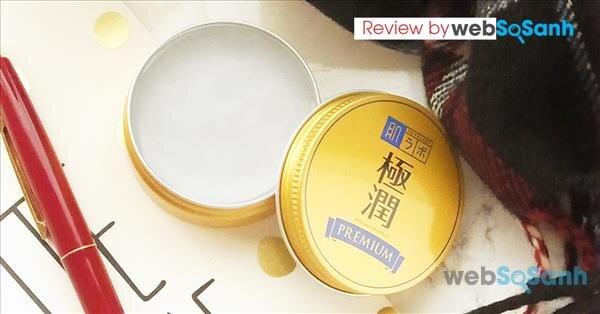 Review sáp thạch dưỡng ẩm tối ưu Hada Labo Gokujyun Premium Balm 25g chi tiết bên trong