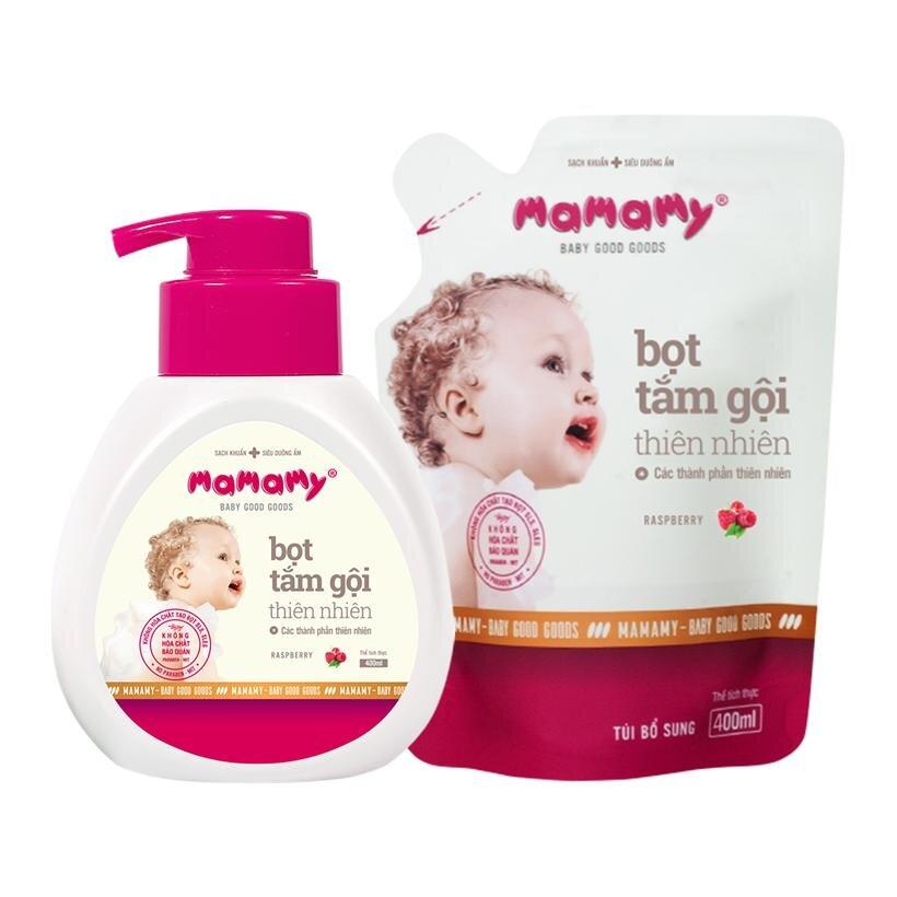 Bọt tắm gội Mamamy