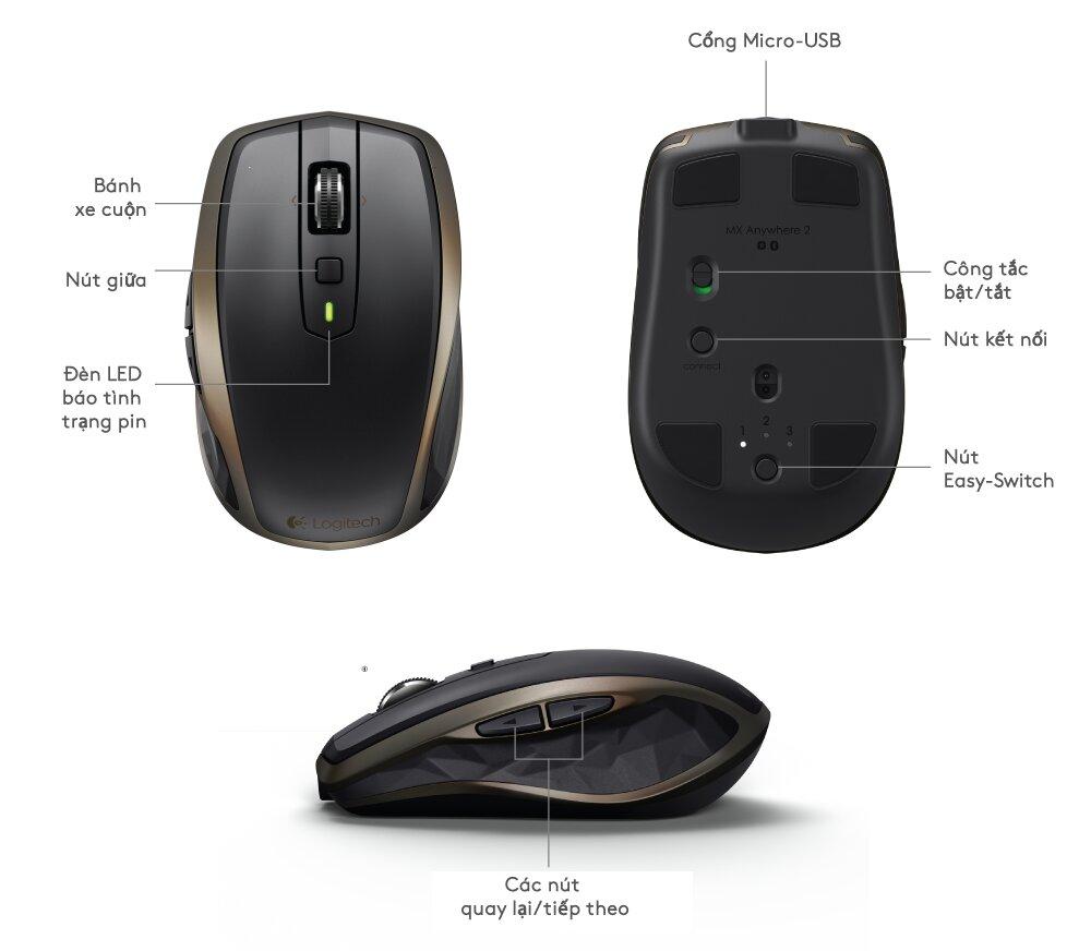 Chuột có khả năng ghép tối đa 3 thiết bị