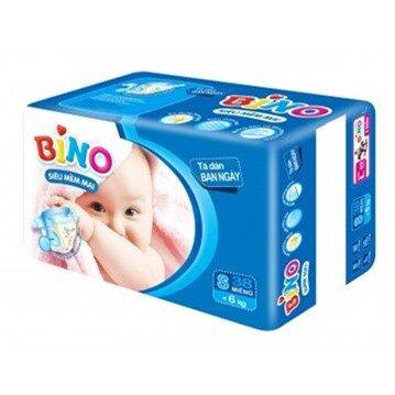 Tã dán Bino ban ngày size S 38 miếng (trẻ từ 0 - 6kg)