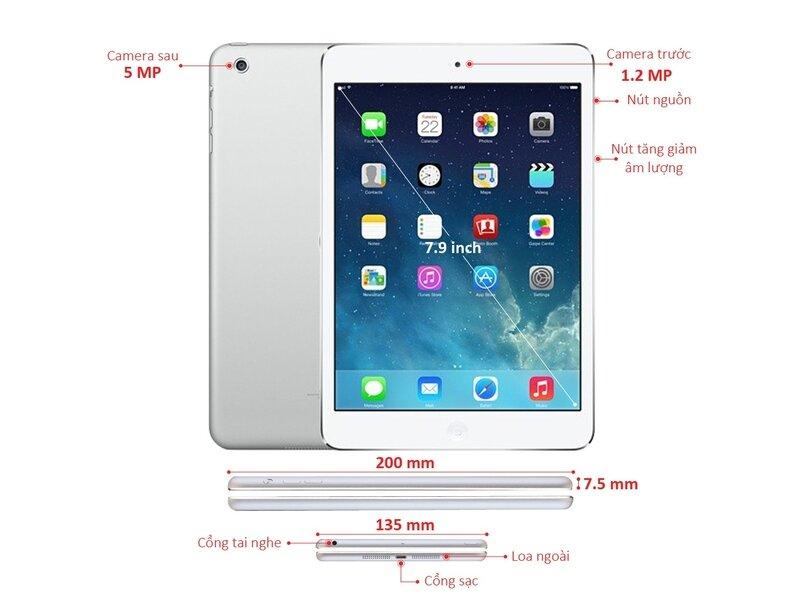 Apple iPad Mini 2 phiên bản màu bạc