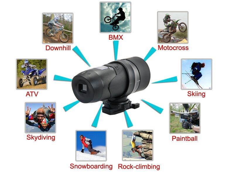 Camera hành trình gắn vào mũ bảo hiểm