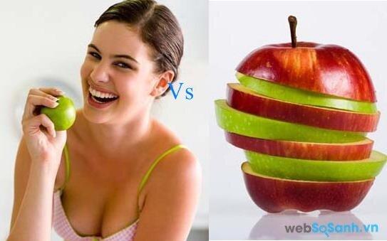 Táo giúp giảm cân nhanh hơn đặc biệt tại vùng mỡ cứng như mỡ đùi (nguồn: internet)