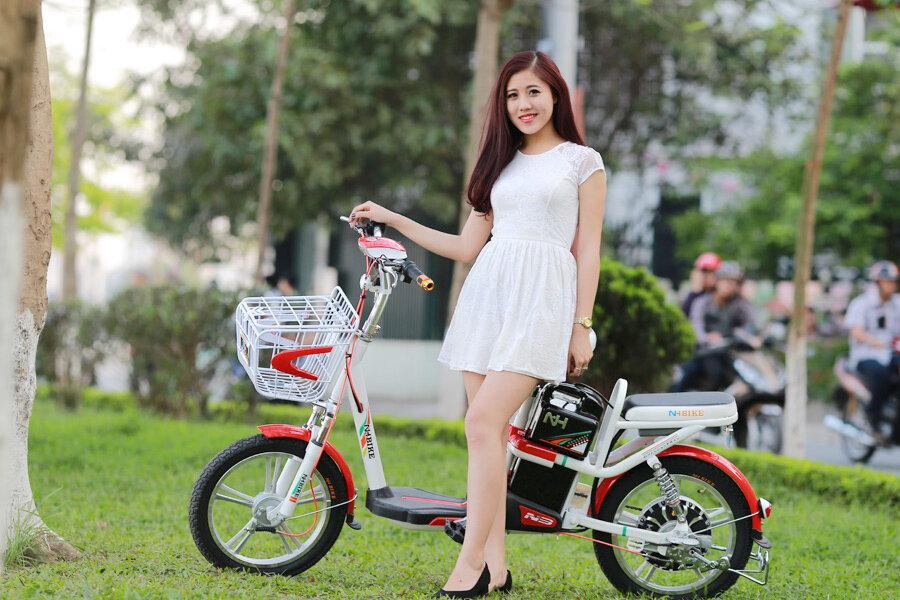 Xe đạp điện Ngọc Hà có thiết kế hiện đại, trẻ trung