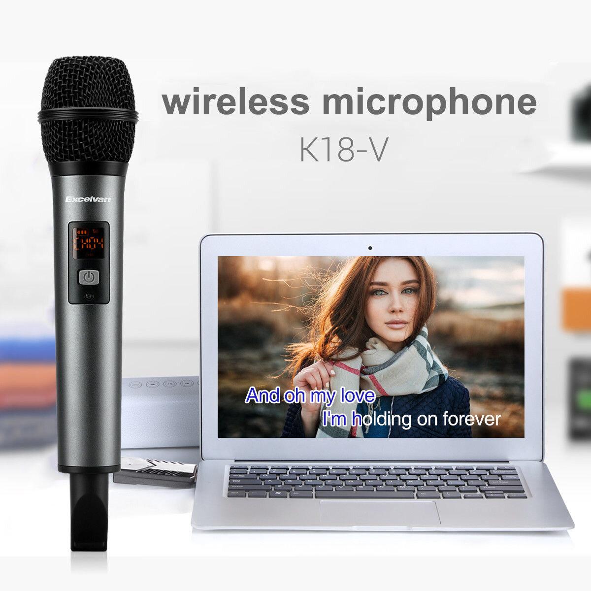 Micro Karaoke không dây Excelvan K18-V với thiết kế nhỏ gọn