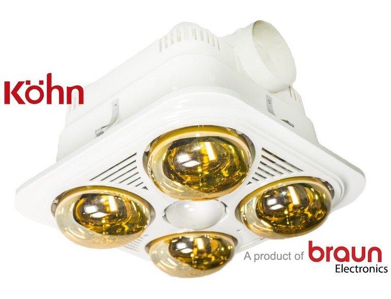 Đèn sưởi nhà tắm Braun Kohn BU04G