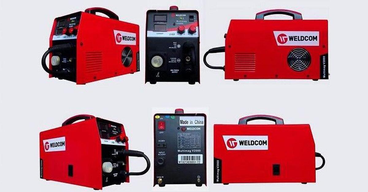 Review máy hàn bán tự động Weldcom Multimag V2500 - đa chức năng, giá thành rẻ