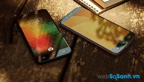 One Touch Flash Plus sở hữu màn hình lớn 5.5 inch với độ phân giải HD