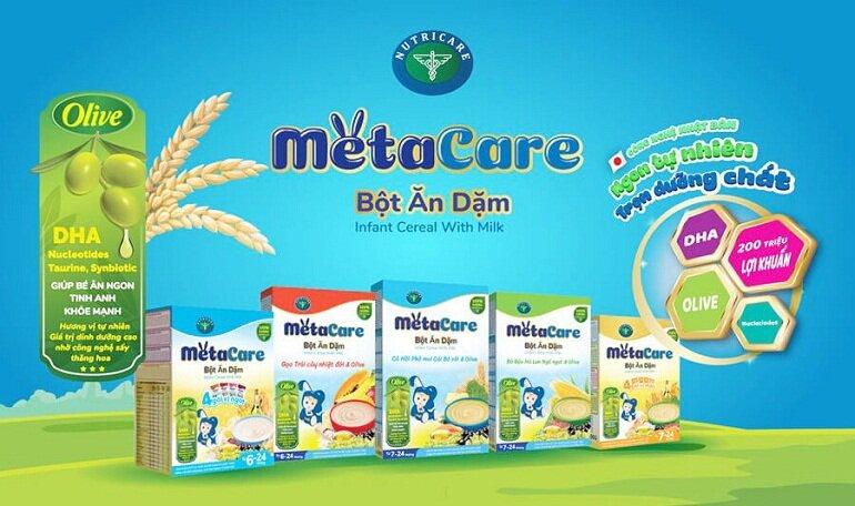 Bột ăn dặm Metacare cung cấp 26 vitamin và khoáng chất cần thiết giúp trẻ mau khôn lớn