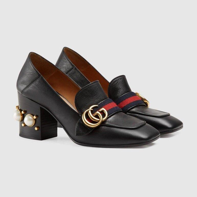 giày cao gót gucci mũi vuông