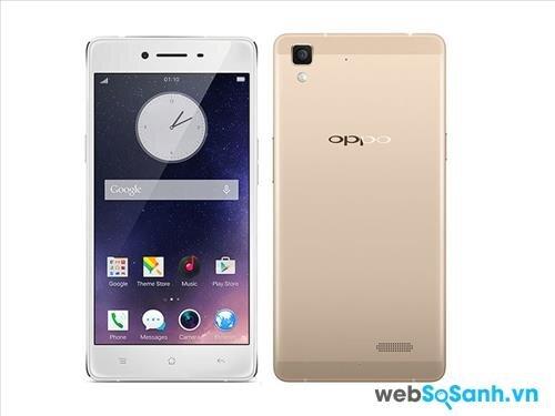 Điện thoại Oppo R7 Lite sở hữu màn hình kích thước 5,0 inch với một tỷ lệ giữa màn hình và cơ thể ~ 67,9%