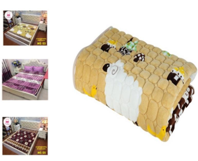 Thảm lông cừu trải giường, trải sàn họa tiết siêu ấm 1m6*2m, 1m8*2m Sale 48% giá chỉ còn 169.000 vnđ và 179.000 vnđ