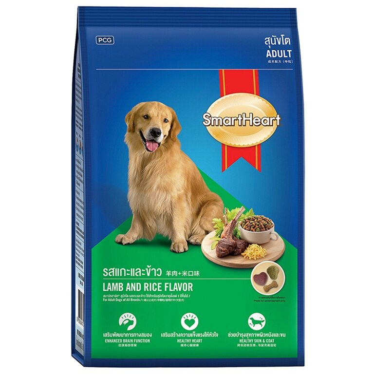 Thành phần dinh dưỡng trong thức ăn cho chó Smartheart có đủ cả chất béo, chất đạm, chất xơ, vitamin và khoáng chất