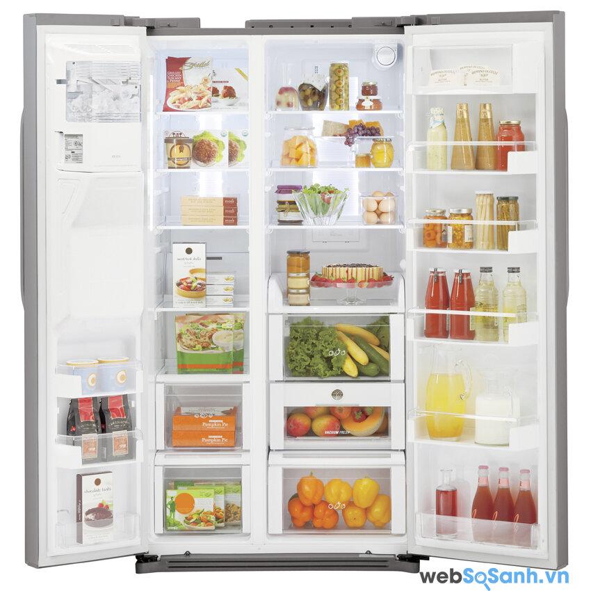 Dung tích tủ lạnh phải đáp ứng nhu cầu của mọi thành viên trong gia đình