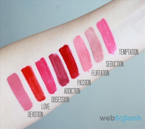 Swatch các màu của son kem lì Revlon Ultra HD Matte Lip Color