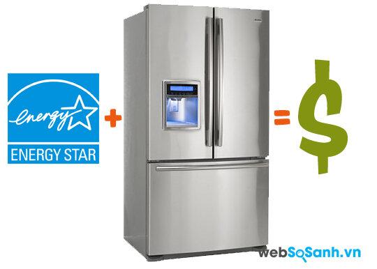 Những tủ lạnh được gắn Energy Star là những tủ lạnh tiết kiệm điện