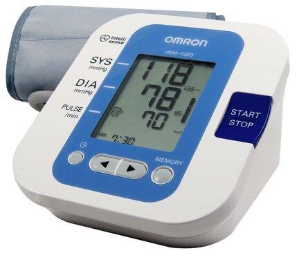 Omron Hem - 7203 sử dụng công nghệ đo hiện đại cho kết quả huyết áp chính xác